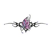 Gem Body Art Tattoo- Hip Sagittarius Butterfly