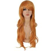 Ecvtop 70cm Long Heat Resistant Big Wavy Cosplay Wig