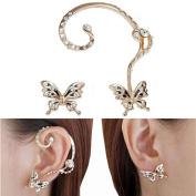 Orangesky Fashion Crystal Beauty Women Butterfly Cuff Ear Clip
