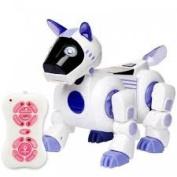 Remote Control Infrared Intelligent Smart Dog Robot Toy for Kids Blue