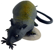 13cm Rubber Stretchy Rat With Long Tail - Halloween - Novelty Toys