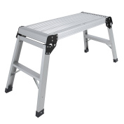 Aluminium Platform Drywall Step Up Folding Work Bench Stool Ladder
