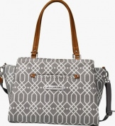Petunia Pickle Bottom Statement Satchel in Quartz, Grey