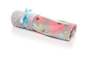 Elonka Nichole Baby Girl Shabby Chic Original Mimi Receiving Blanket, Floral Romance
