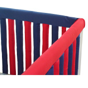 Go Mama Go Designs' Navy & Red 130cm x 30cm Reversible Teething Guard