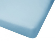 100% Cotton Jersey Knit Fitted Portable Crib Sheet - Blue