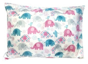Toddler Pillowcase 13x18 by Angel Dreams - 100% Soft Cotton - Envelope Style - Hypoallergenic - Machine Washable