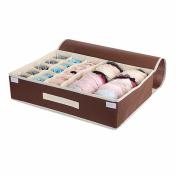 15 Grids Foldable Organiser/Box for Underwear, Bras, Socks, Coffee