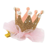 2016 Hot Cute Kids Toddler Girls Princess Hairpin Elastic Flower Crown Headwear by FEITONG