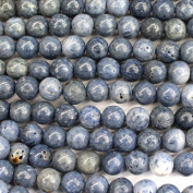 Natural Colour blue spong coral round Gemstone Jewellery Making Loose Beads