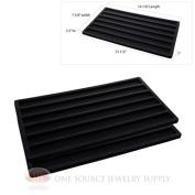 2 Insert Tray Liners Black W/ 6 Slot Each Drawer Organiser Jewellery Displays