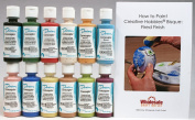 Duncan CNKIT-1 Concepts Underglaze Paint Set, 12 Best Selling Colours in 60ml Bottles with Free How To Paint Ceramics Book