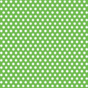 Decorative Dots Gift Wrap 80cm . x 1.5m, Lime Green
