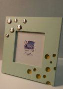 Attractive Wooden Picture Frame with Sterling Silver Accent and Iterchangable Colour Options.