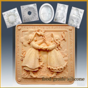 Friends Give Us Support - Detail of High Relief Sculpture - Silicone Soap/sugar/fondant/chocolate/marzipan 2d Mould