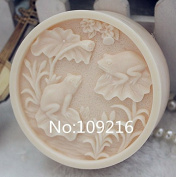Creativemoldstore 1pcs Lotus Pond with Frog (ZX113) Craft Art Silicone Soap Mould Craft Moulds DIY Handmade Soap Mould