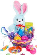 Veil Entertainment Easter Ribbon Bunny 11pc Easter Basket Blue