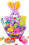 Veil Entertainment Easter Ribbon Bunny 11pc Easter Basket Purple