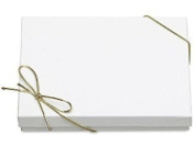White Jewellery Gift Boxes 4 Pack with Gold Stretches Pre-tied Bracelet Gift Box with Gold Strings with Filler