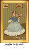 Sapphire Southern Belle, Vintage Counted Cross Stitch Pattern
