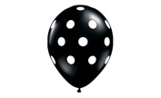 Black Polka Dot Balloons (10 Pack) - 30cm Inflatable Graduation Latex Balloons, Black Over The Hill Birthday Party Decorations, Polka Dot Black Wedding Supplies