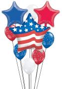 Patriotic Stars & Stripes Celebration 10pc Balloon Pack Red/White/Blue