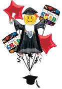 Veil Entertainment Congrats Grad 6pc Balloon Pack Red
