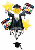 Veil Entertainment Congrats Grad 6pc Balloon Pack Yellow