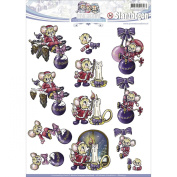 Find It Trading Yvonne Creations Colourful Christmas Punchout-
