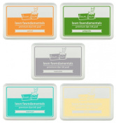 Lawn Fawn Fawndamentals - Dye Ink Pads - Butter, Carrot, Jalapeno, Manatee, Merman
