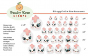 PK-1373 Chickie, Peachy Keen Stamps Clear Face Assortment