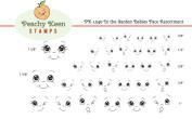 PK-3910cm the Garden Babies, Peachy Keen Stamps Clear Face Assortment