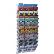 Azar 252327 48-Pocket Trifold Size Wall Mount Display