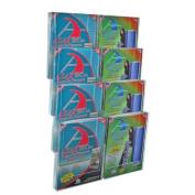 Azar 252322 Eight-Pocket Letter Size Wall Mount Display