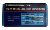 7pc 1cm Dr. Extra Long Hex Bit Socket