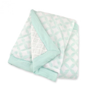 Just Born Plush Hampton/Bridgeport Blanket, Aqua