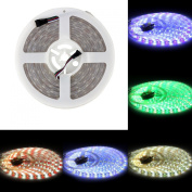 BZONE DC 12V RGB+Cool White RGBW LED Rope Light Flexible Waterproof Colour Changing LED Strip Lights, 300 Units SMD 5050 LEDs, IP67 Waterproof, 5m 16.4FT