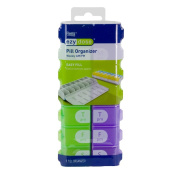Ezy Dose 7 Day AM/PM Easy Fill Pill Organiser (XL) Two-Times-Per-Day Weekly Medication Reminder