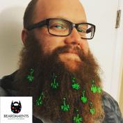 Beardaments - St Patrick's Day Beard Ornaments - Beard Baubles - 12-pack