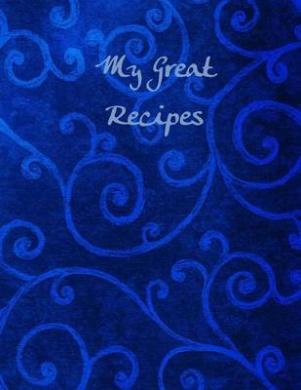 My Great Recipes: Dark Blue Scroll