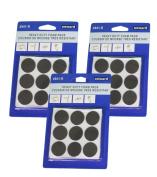 Lot of 54 Onward 2.5cm Black Heavy Duty Foam Pads Surface Protectors Self Stick
