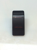 Euro Rocker Marine Switch Cover Black with 2 Red Lens