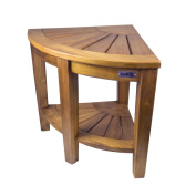 SeaTeak 60025 Shower & Spa Corner Seat-Oiled Finish