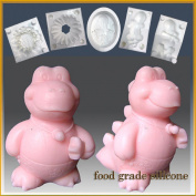 Baby Dinosaur Boy- Silicone Soap/sugar/fondant/chocolate/marzipan 3d Mould