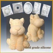 Toy Tiger- Silicone Soap/sugar/fondant/chocolate/marzipan 3d Mould