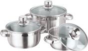 Vinod Cookware Breman Sauce Pot Set Silver 3-Pieces