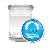 Medical Glass Stash Jar Bernie Sanders S6 Air Tight Lid 7.6cm x 5.1cm Small Storage Herbs & Spices Presidential Candidate