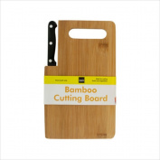 Bamboo Cutting Board Small Wood Board with Handle Build in Knife Cut Cheese Vegetable Fruit