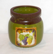 NEW GREEN colour CLUSTER OF GRAPES KITCHEN UTENSIL HOLDER HERB POT VINTAGE LOOK