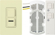 Lutron Electronics Co. MIR-LFQTHW-AL Maestro IR Fan/Light Control Kit with Remote and Wall Plate, Almond